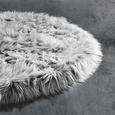 Kunstfell Teddy Grau 80cm - Grau, Textil (80cm) - Mömax modern living