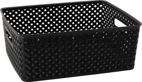 Korb Mona verschiedene Farben - Schwarz/Weiß, Kunststoff (35/29/13,5cm) - Mömax modern living