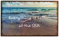Okrasna Tablica Shore - siva, Moderno, kovina (40/20cm)