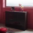 Kommode in Dunkelgrau - Chromfarben/Dunkelgrau, MODERN, Glas/Holz (45/100/40cm) - Premium Living