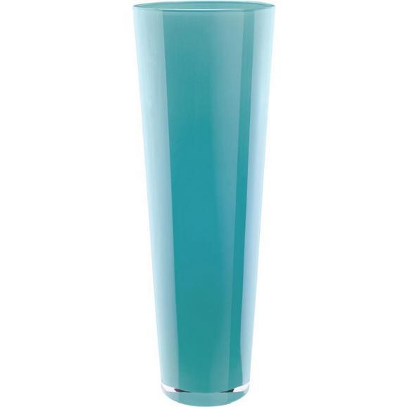 Vase Loretta Grün - Türkis/Weiß, KONVENTIONELL, Glas (17/50cm) - Mömax modern living