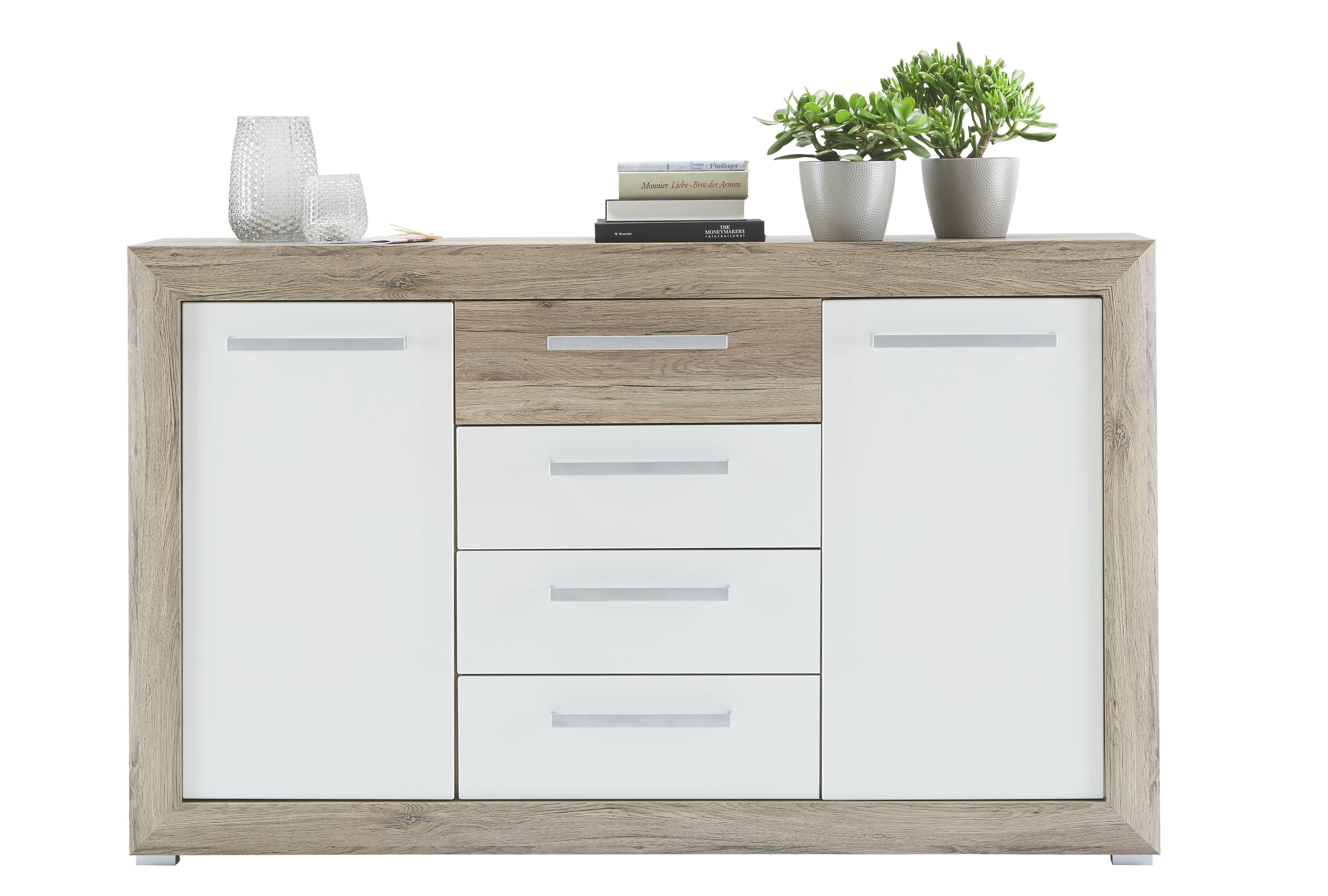 Beau Gallery Of Interesting Affordable Affordable Sideboard In Eichewei  Hochglanz With Highboard Eiche Wei With Designer Highboard With Highboard  Wei With Otto ...