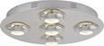 Deckenleuchte Niklas mit Led  5-flammig - Chromfarben, MODERN, Kunststoff/Metall (50/7,5cm) - Premium Living