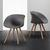 Stuhl Emely - Buchefarben/Grau, MODERN, Holz/Kunststoff (56/78/50,5cm) - Modern Living
