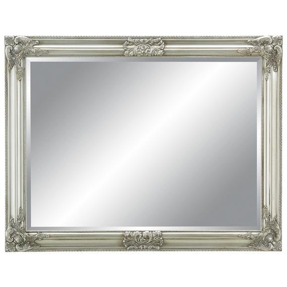 Wandspiegel in Silberfarben, ca. 70x90cm - Silberfarben, MODERN, Glas/Holz (70/90/3cm) - Mömax modern living