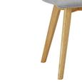 Stuhl Tim - Buchefarben/Hellgrau, MODERN, Holz/Textil (43/88/53,5cm) - Modern Living