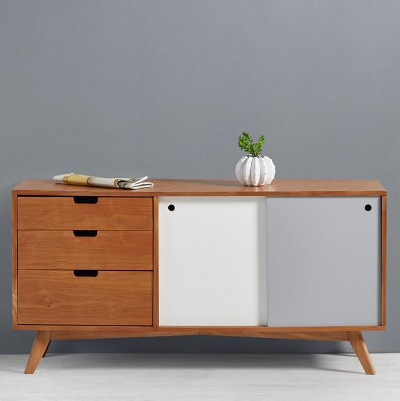 Sideboard Jillian - Ulmefarben/Weiß, MODERN, Holz/Holzwerkstoff (120/60/35cm) - MÖMAX modern living
