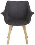 Stol Diana - naravna/antracit, Trendi, tekstil/les (64/81/78cm) - Zandiara