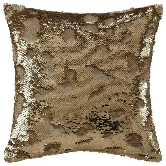 Zierkissen Marion Gold/Beige ca. 40x40 cm - Beige/Goldfarben, Textil (40/40cm) - Mömax modern living
