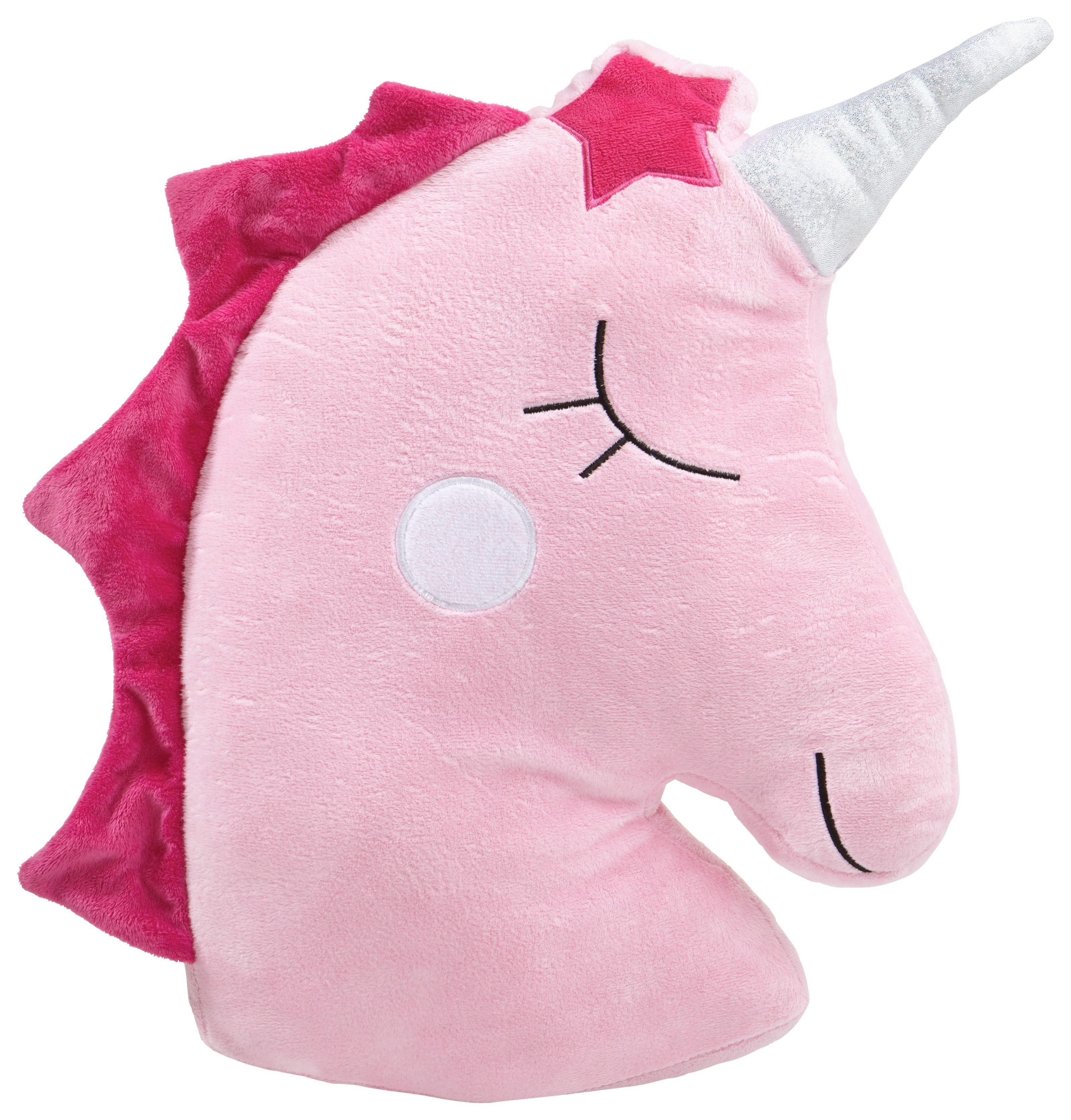 Zierkissen Unicorn in Rosa, ca. 45cm - Pink/Rosa, LIFESTYLE, Textil (45cm) - MÖMAX modern living