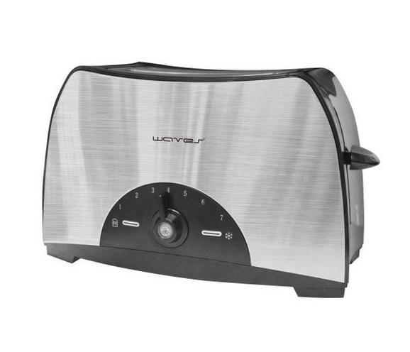 Toaster Albert - Silberfarben/Schwarz, Kunststoff/Metall (28/17/17,5cm)
