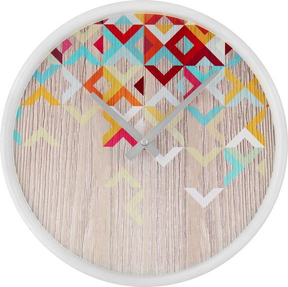 Wanduhr Vanessa Weiß/bunt - Multicolor/Weiß, Papier/Holzwerkstoff (30,5 5,5 cm) - Mömax modern living