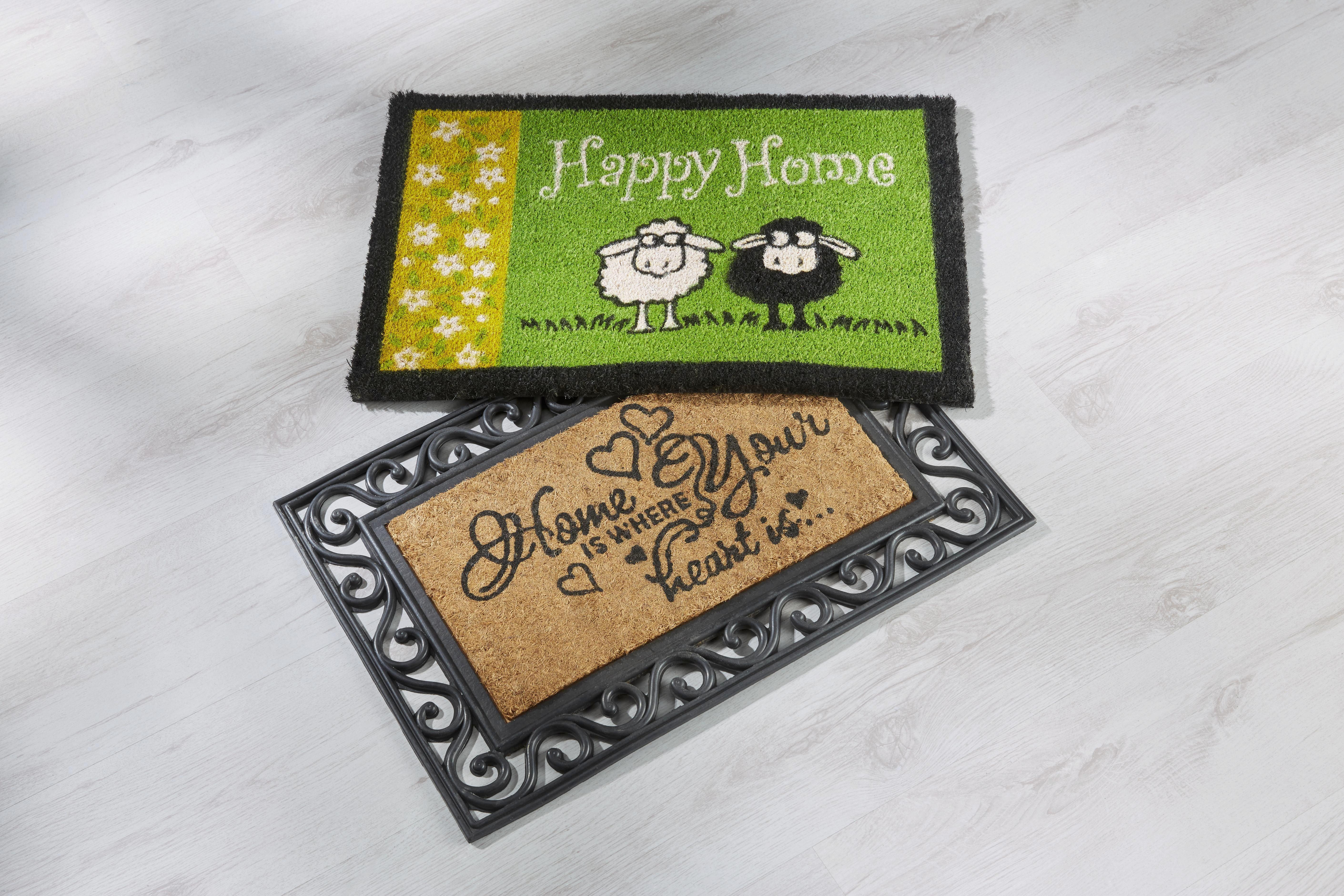 Lábtörlő Happy Home - zöld, textil (40/60cm) - MÖMAX modern living
