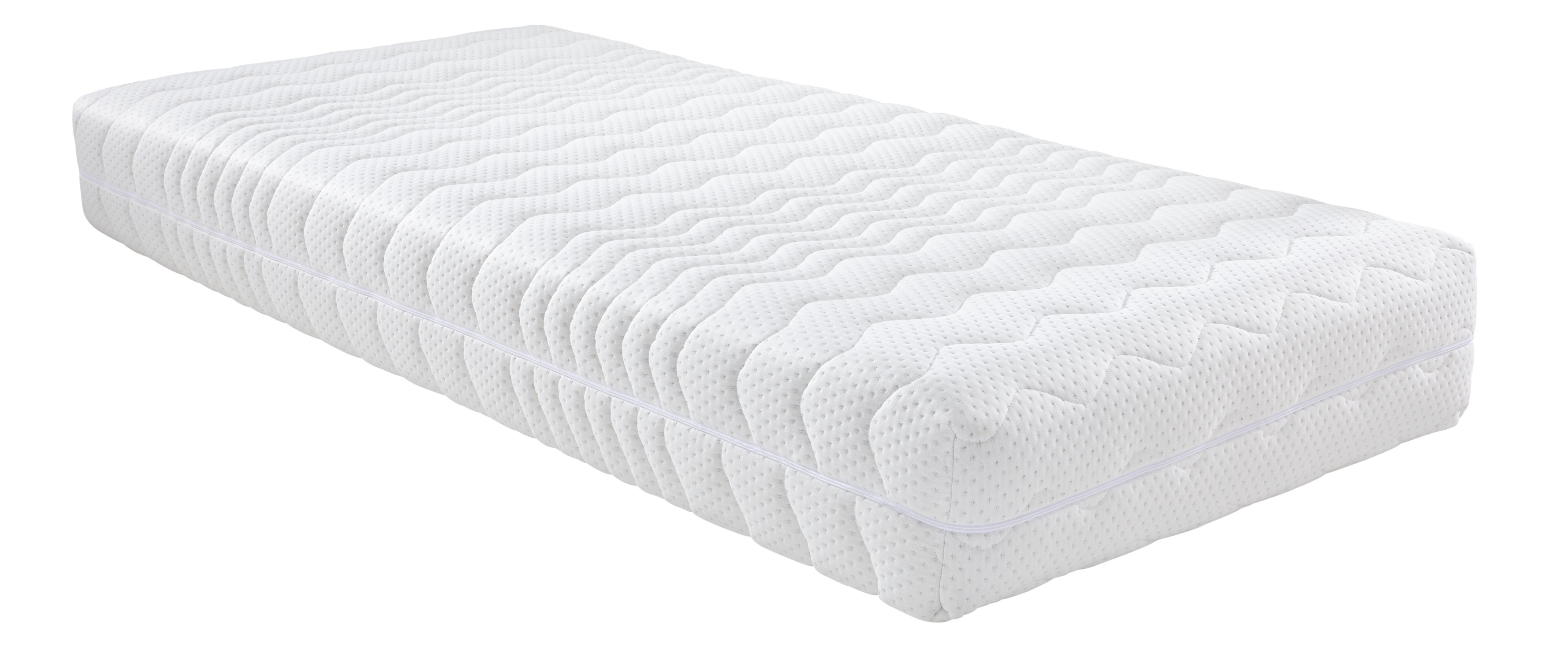 Komfortschaummatratze ca. 80x200cm - Weiß, Textil (200/80/25cm) - NADANA