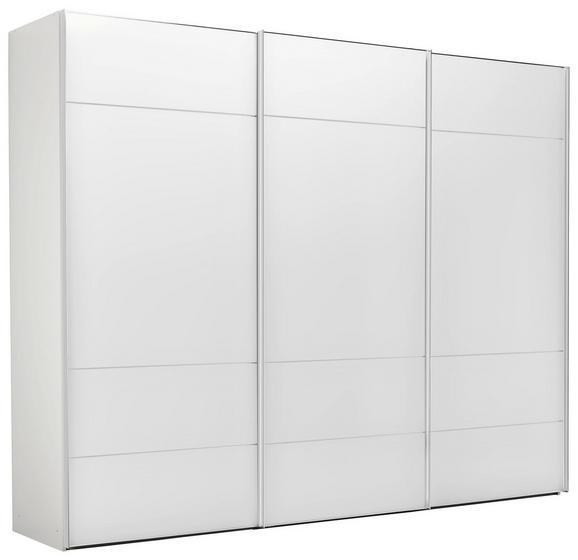 Schwebetürenschrank Weiß - Chromfarben/Weiß, LIFESTYLE, Glas/Holzwerkstoff (298/240/68cm) - PREMIUM LIVING