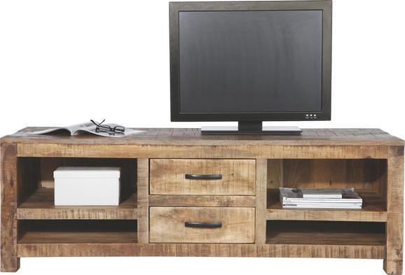 Lowboard in Braun - Naturfarben, LIFESTYLE, Holz (150/50/55cm) - Zandiara