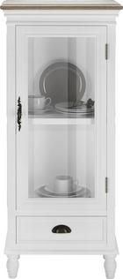 Vitrine Claudia Vintage - Eichefarben/Weiß, KONVENTIONELL, Glas/Holz (50/116/32cm) - Mömax modern living