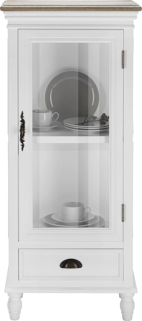 Vitrine Claudia Vintage - Weiß, KONVENTIONELL, Glas/Holz (50/116/32cm) - MÖMAX modern living