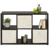 Raumteiler in Schwarz - Schwarz, MODERN, Holzwerkstoff/Kunststoff (111/76/34cm) - Modern Living