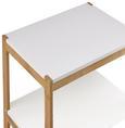 Regal Mirella - Buchefarben/Weiß, MODERN, Holz (40/95/30cm) - Modern Living