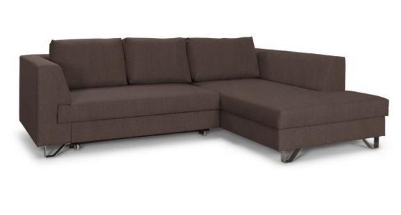 Sedežna Garnitura Mohito - srebrna/rjava, Moderno, kovina/tekstil (280/196cm) - Premium Living