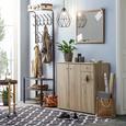 Beistelltisch Schwarz/Natur - Schwarz/Naturfarben, MODERN, Holz/Holzwerkstoff (44/58/44cm) - Modern Living