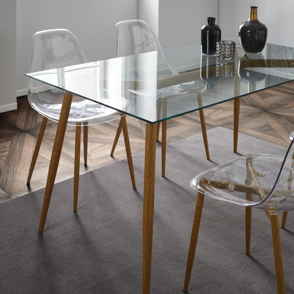 Esstisch aus Klarglas ca. 140x80 cm 'Vinnie'