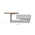 COUCHTISCH in weiß 'Carlos' - Eichefarben/Weiß, MODERN, Holz/Metall (110/61/40cm) - Bessagi Home