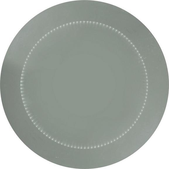 Stensko Ogledalo Tube - prozorna, steklo/leseni material (80cm) - Premium Living