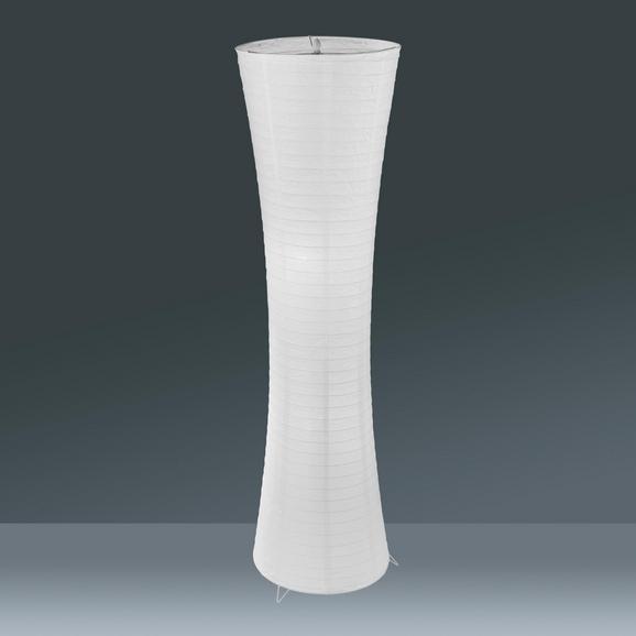 Stehleuchte Tobias, max. 60 Watt - Weiß, KONVENTIONELL, Papier/Metall (36/130cm) - Mömax modern living