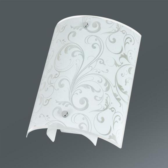 Falilámpa Iris - Átlátszó/Fehér, konvencionális, Üveg (20/24/8cm) - Mömax modern living