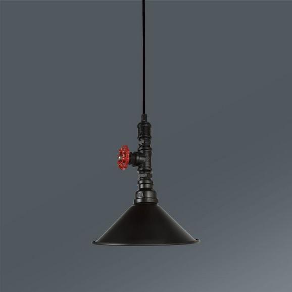 Viseča Svetilka Raul - rdeča/črna, Trendi, kovina (22/133cm) - Mömax modern living