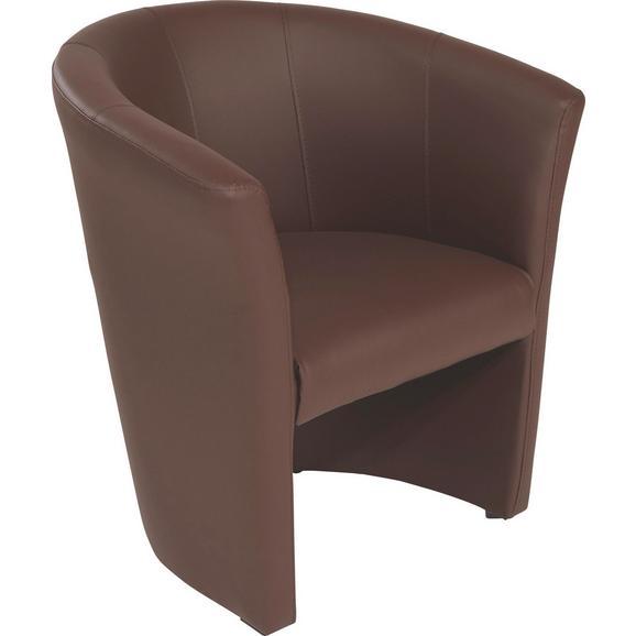 Fotelj Hugo - črna/rjava, Basics, umetna masa/tekstil (69/76/59cm) - Mömax modern living