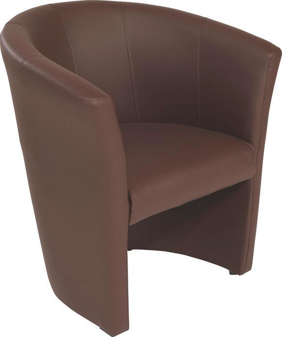 Fotelj Hugo - črna/rjava, Moderno, umetna masa/tekstil (69/76/59cm) - Mömax modern living