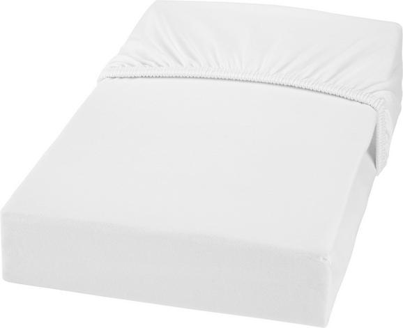 Spannbetttuch Jersey 180x200 cm - Weiß, MODERN, Textil (180/200cm) - MÖMAX modern living