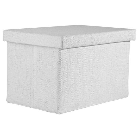 Tárolódoboz Cindy - Fehér, modern, Papír/Műanyag (38/26/24cm) - Mömax modern living