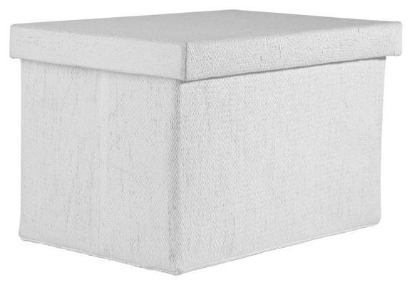 Tárolódoboz Cindy - fehér, modern, textil (38/26/24cm) - MÖMAX modern living