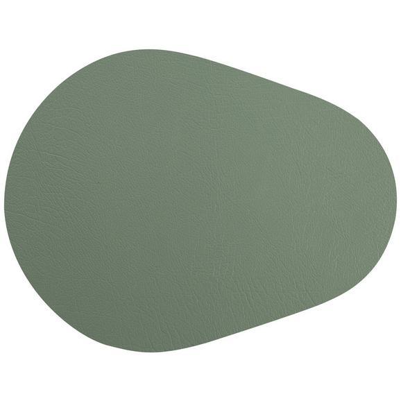 Tischset Jette aus Leder in Grün - Grün, Leder (45/35cm) - Premium Living