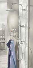 Brauseset Tokyo in Chromfarben - Chromfarben, Kunststoff/Metall (102cm) - MÖMAX modern living