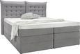 Bett Grau 180x200cm - Schwarz/Grau, KONVENTIONELL, Kunststoff/Textil (214/198/131cm) - Premium Living
