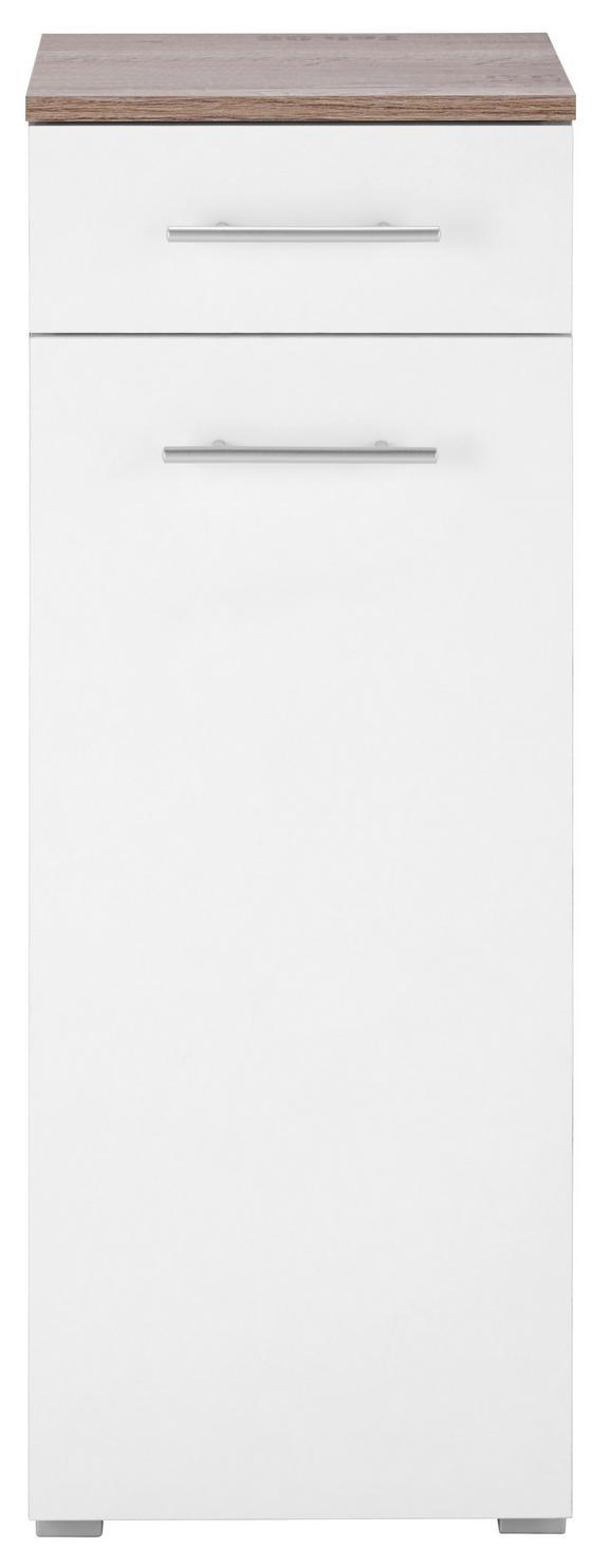 Spodnja Omarica Santino - aluminij/bela, Moderno, umetna masa/leseni material (32,5/89/31,5cm) - Mömax modern living