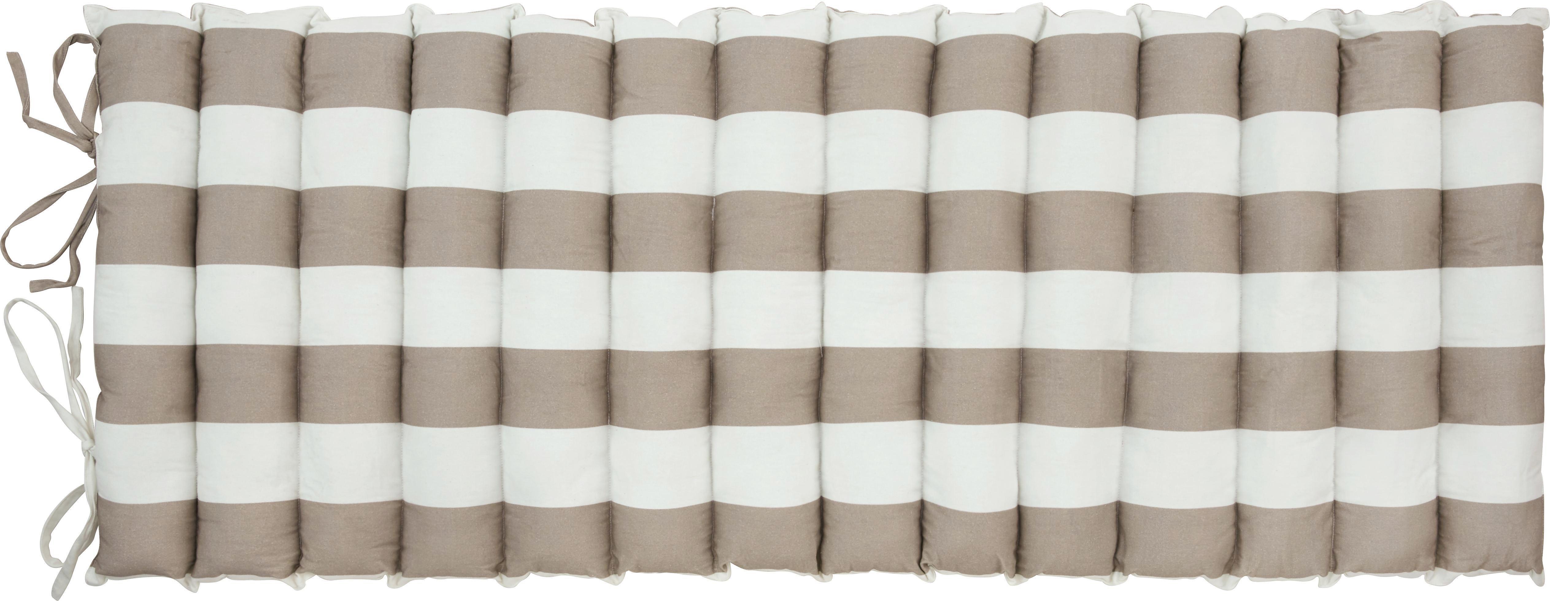 Strandmatte Uni in Türkis, ca. 60x180cm - Weiß/Grau, Textil (60/180cm) - MÖMAX modern living