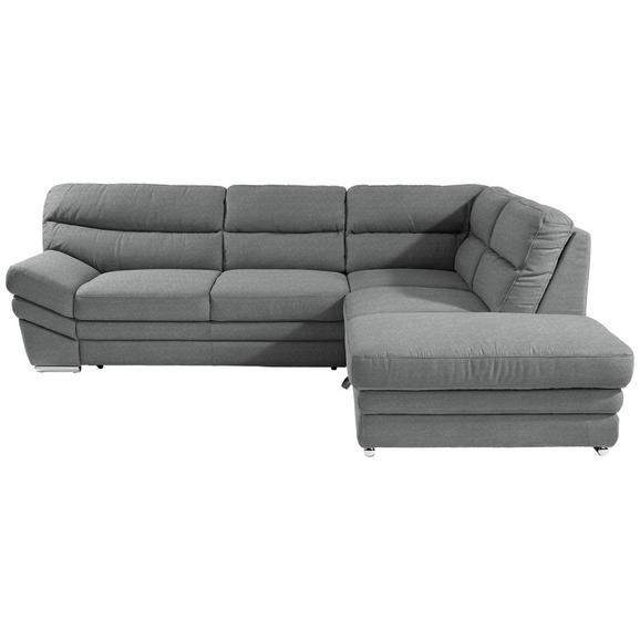 Sedežna Garnitura Victory - siva/krom, Konvencionalno, kovina/tekstil (264/217cm) - Premium Living