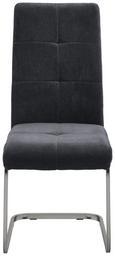 Schwingstuhl Lucie - Grau, MODERN, Textil/Metall (42,5/98/45cm) - Modern Living