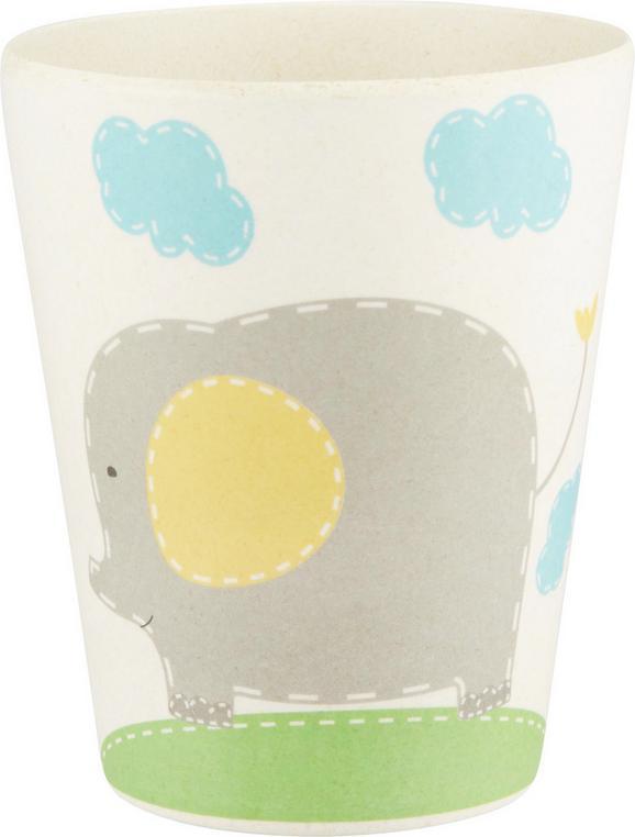 Trinkbecher Elefant 2-teilig in Bunt - Multicolor/Naturfarben, Holz/Weitere Naturmaterialien (7,5/9,5cm) - Zandiara