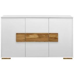 Sideboard in Weiß/Naturfarben - Eichefarben/Naturfarben, MODERN, Holz/Holzwerkstoff (160/95/40cm) - Modern Living