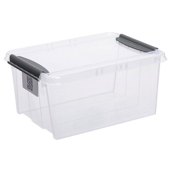 Aufbewahrungsbox Chaos ca. 14l - Transparent, MODERN, Kunststoff (39/29/18,5cm)