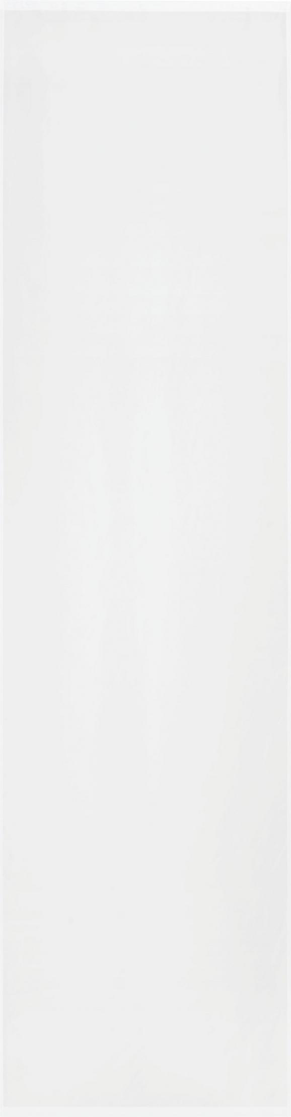 Flächenvorhang Flipp Weiß 60x245cm - Weiß, Textil (60/245cm) - Based