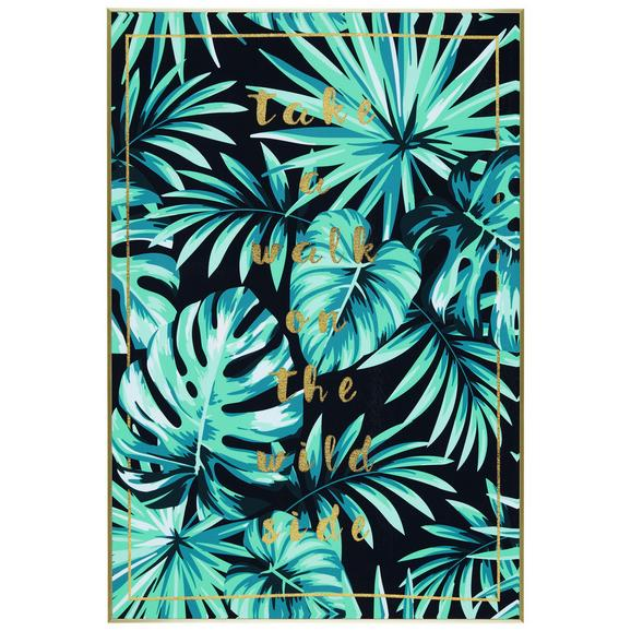 Slika Denise - zlata/bela, tekstil/les (62/92/4,3cm) - Modern Living
