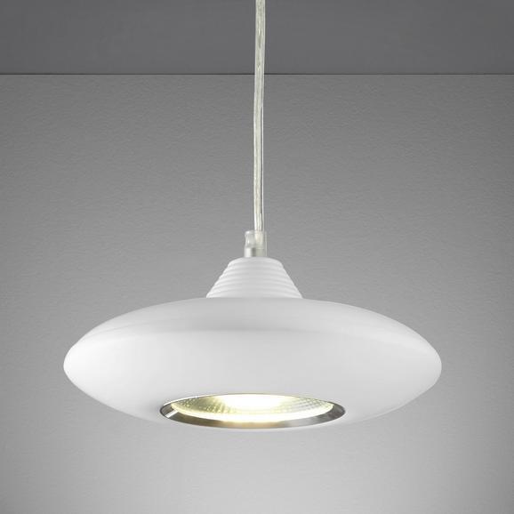 LED-Hängeleuchte Leah - Weiß, MODERN, Glas/Kunststoff (21/21/180cm) - MÖMAX modern living